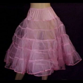 Vintage Style Petticoats-50s Style Pink Crinoline Slip-Vintage Lingerie #crinoline #50sstyle #petticoat #pinkpetticoat