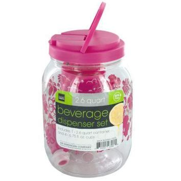 Portable Beverage Dispenser & Cups Set (Available in a pack of 6)