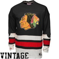 Mitchell & Ness Chicago Blackhawks Line Change Long Sleeve T-Shirt - Black