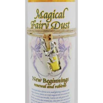 New Beginnings Pillar Candle with Fairy Dust Necklace