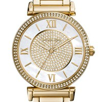 Women's Michael Kors 'Caitlin' Crystal Dial Bracelet Watch, 38mm - Gold