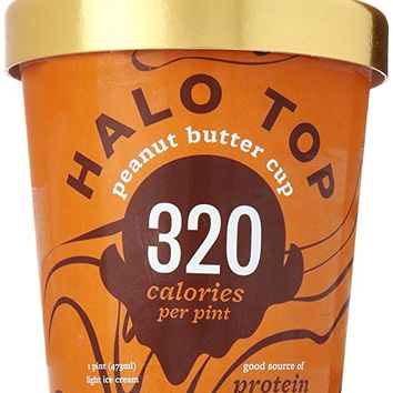 Halo Top Peanut Butter Cup, 16 oz (Frozen)