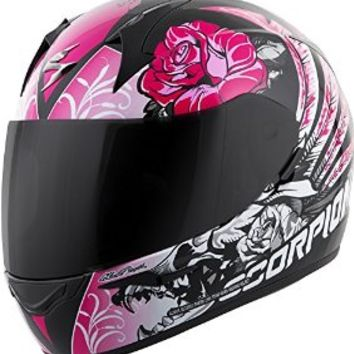 Scorpion EXO-R410 Novel - Full-Face Street Motorcycle Helmet - Black/Pink - X-Small