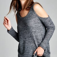 California Cozy Cold Shoulder Sweater