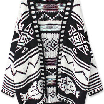 Black Paisley Cardigan