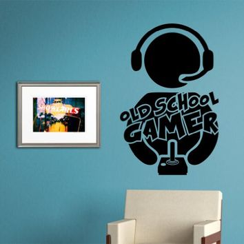 Gamer Version 102 Old School Vintage Video Game Decal Sticker Wall Boy Girl Teen Child Sport Fight