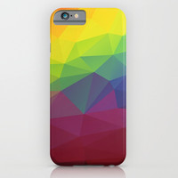 Colorful Abstract Triangle Pattern iPhone & iPod Case by Smyrna