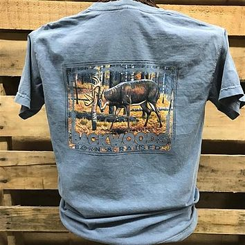 Backwoods Born & Raised Deer Rut Country Comfort Colors Bright Unisex T Shirt