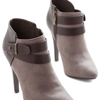 ModCloth Urban Follow Your Lead Bootie in Taupe