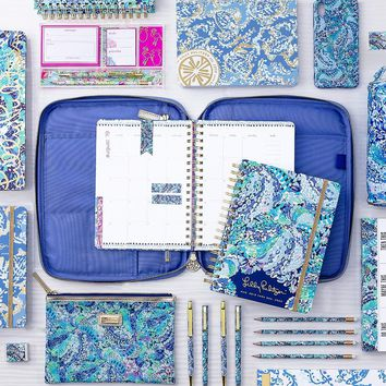 Lilly Pulitzer Agenda Bonus Pack Pencil Case Includes Planner Stickers, Magnets, Sticky Notes, and a Black Ink Pen