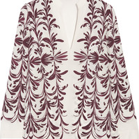 Tory Burch - Printed silk-georgette top