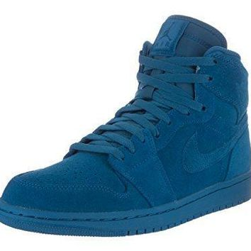 Nike Jordan Men's Air Jordan 1 Retro High Team Royal/Team Royal Basketball Shoe 9.5 Me