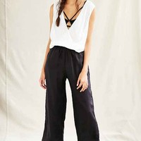 Mixed Business Wide Leg Pant- Black