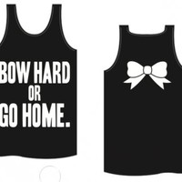 Bow Hard or Go Home Tank - Kiss My Southern Sass