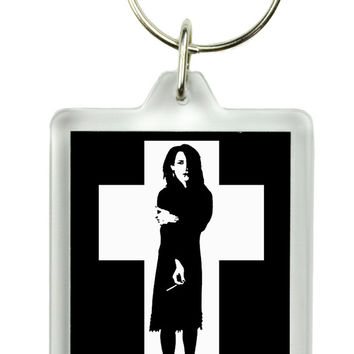 Rozz Williams Keychain Gothic Deathrock Key Ring Christian Death Shadow Project