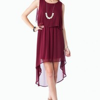 Andara Dress in Burgundy - ShopSosie.com