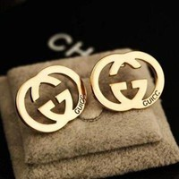 PEAPYV2 GUCCI Popular Ladies Logo Letter Earring+Best Gift