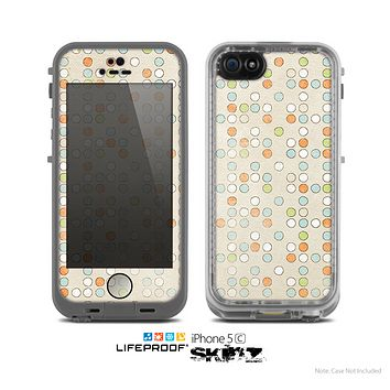 The Vintage Tiny Polka Dot Pattern Skin for the Apple iPhone 5c LifeProof Case