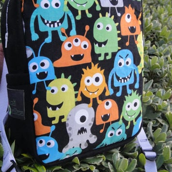 Happy Monsters Multicolor Printed Ravepack Backpack