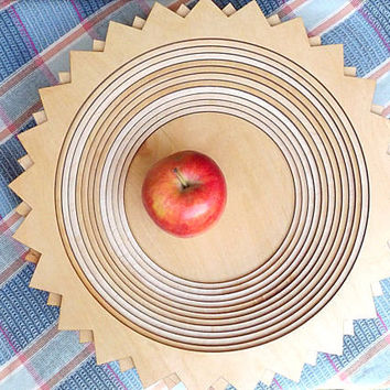 Wood Bowl - Wooden Bowl - Kitchen - Houseware - Wooden Serving Bowl - Fruit Bowl - Center Piece - Wedding