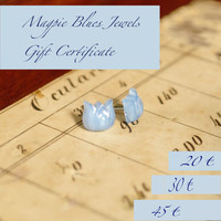 GIFT CERTIFICATE // handmade retro inspired jewelry, earring, necklaces, bracelets, keychains, rings