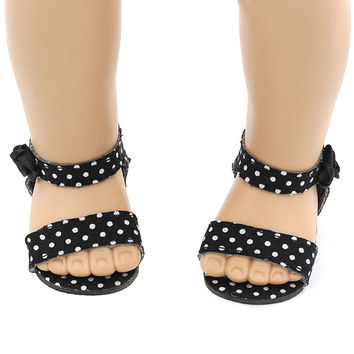 Doll Shoes For 18 Inch American Girl Doll Accessories Fashion Cute Handmade Multicolor Sandals Doll Shoes Clothes Accessories
