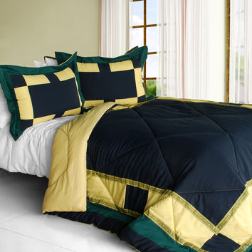 Light Impression Quilted Patchwork Down Alternative Comforter Set in Full/Queen Size