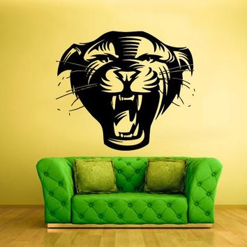 Wall Vinyl Decal Sticker Bedroom Wall Decal Decal Cougar Head Cat Pantera  z333