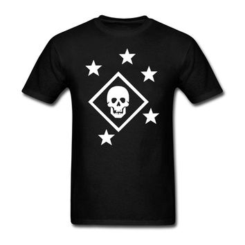 Marine Raider fashion T-shirt men's cotton summer car speed T-shirt black creative design T-shirt fitness clothing brand