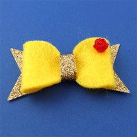 Belle's Ballgown Hair Bow - Spiffing Jewelry