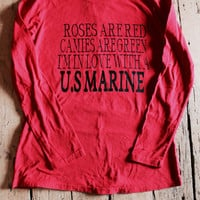 SALE!! roses are red cameos are green I'm in love with a us marine