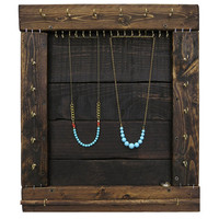 Jewelry Organizer // Necklace Display, Bracelet & Ring Storage // Jewelry Hooks // Eco-Friendly Home Decor / Reclaimed Wood Furniture / Gift