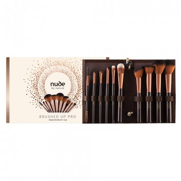Nude By Nature Nude By Nature Brushed Up Pro 10 Piece Brush Set + Case 10 pack