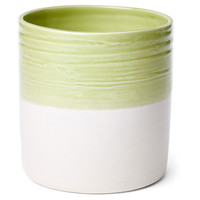 Dipped Utensil Crock, Green/Cream, Cooking Utensils & Holders
