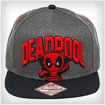 Deadpool 3D Emblem Snapback Hat - Marvel Comics - Spencer's