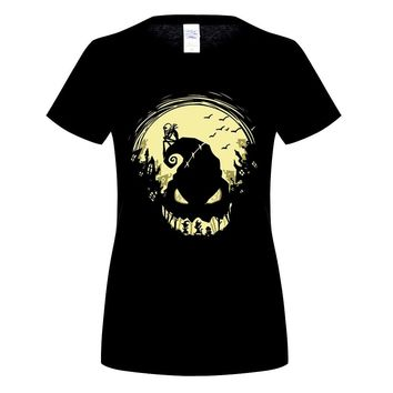 GILDAN Flevans Spring Autumn women T shirt The Nightmare Before Christmas Funny Printed 100% cotton Casual Fashion Tops Tees