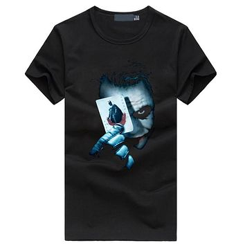 Hot Joker Heath Ledger men's t-shirts Vintage Movie funny hip hop streetwear black t shirt homme fitness fahion brand clothing