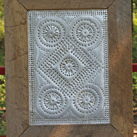 Rustic Punched Tin -  Country Wagon Wheel Pie Safe Pattern