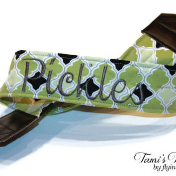 Personalized Camera Strap, Green Camera Strap, DSLR Camera Strap, Canon, Nikon, Custom Camera Strap, Embroidered Camera Strap