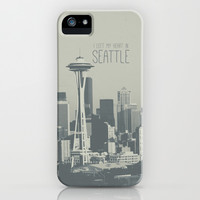 I LEFT MY HEART IN SEATTLE iPhone & iPod Case by Melissa Lund
