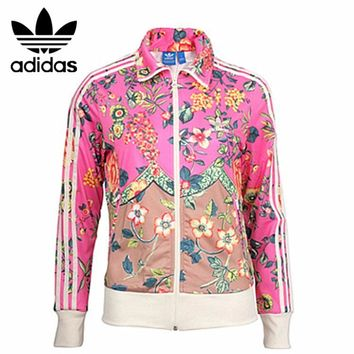 Fashion hot ADIDAS pink floral print jacket coat