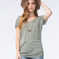 Full Tilt Essential Womens Tried And True Tee Olive  In Sizes