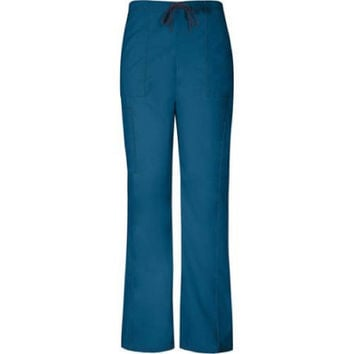 Vital Threads Women's Drawstring Cargo Scrub Pant, Medium, Caribbean Blue, 77960