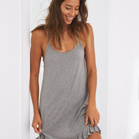 Aerie Softest Sleep® Ruffle Nightie, Dark Heather