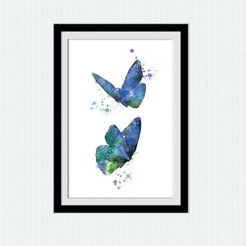 Butterfly poster Butterfly print Butterfly watercolor decor Butterfly wall art Home decoration Living room decor Kids room art poster W548