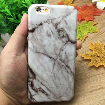 White Gray Marble Grain Case for iPhone