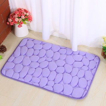 3D Memory Foam Living Room Bedroom Bathroom Anti-skid Floor Mat [6268417606]