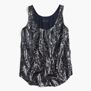 J.Crew Womens Collection Sequin Stars Tank