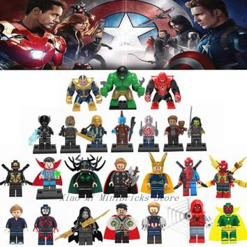 Deadpool Dead pool Taco Legoing Thanos Blocks Toys Spiderman Thor Loki  Hulk Avengers 3 Infinity War Figures Thanos Legoings Marvel Super Heroes AT_70_6