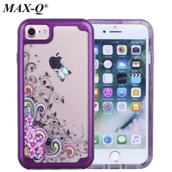 MAX-Q Defender Luxury TPU+PC Strong Hybrid Painted Case For Apple iPhone 7 and iPhone 7 Plus